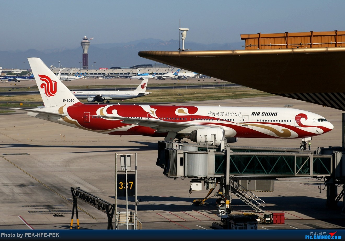 Re:[原创][AutumnKwok]秋高气爽,PEK拍机(西班牙 总 理 专。机,EVA新涂装77W,英航寰宇,蒙古763小姨。。。) BOEING 777-200 B-2060