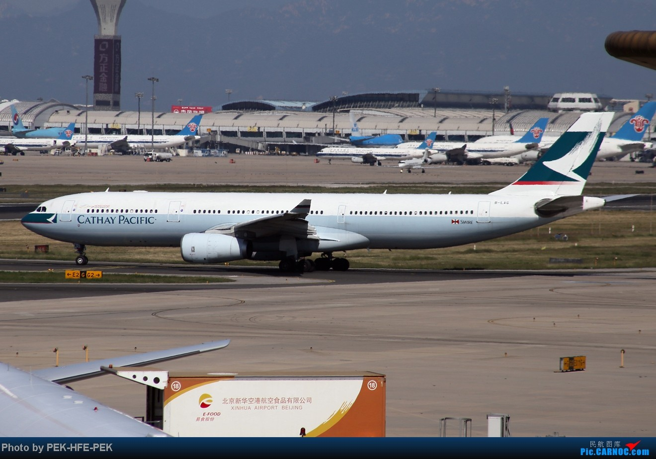 Re:[原创][AutumnKwok]秋高气爽,PEK拍机(西班牙 总 理 专。机,EVA新涂装77W,英航寰宇,蒙古763小姨。。。) AIRBUS A330-300 B-LAG