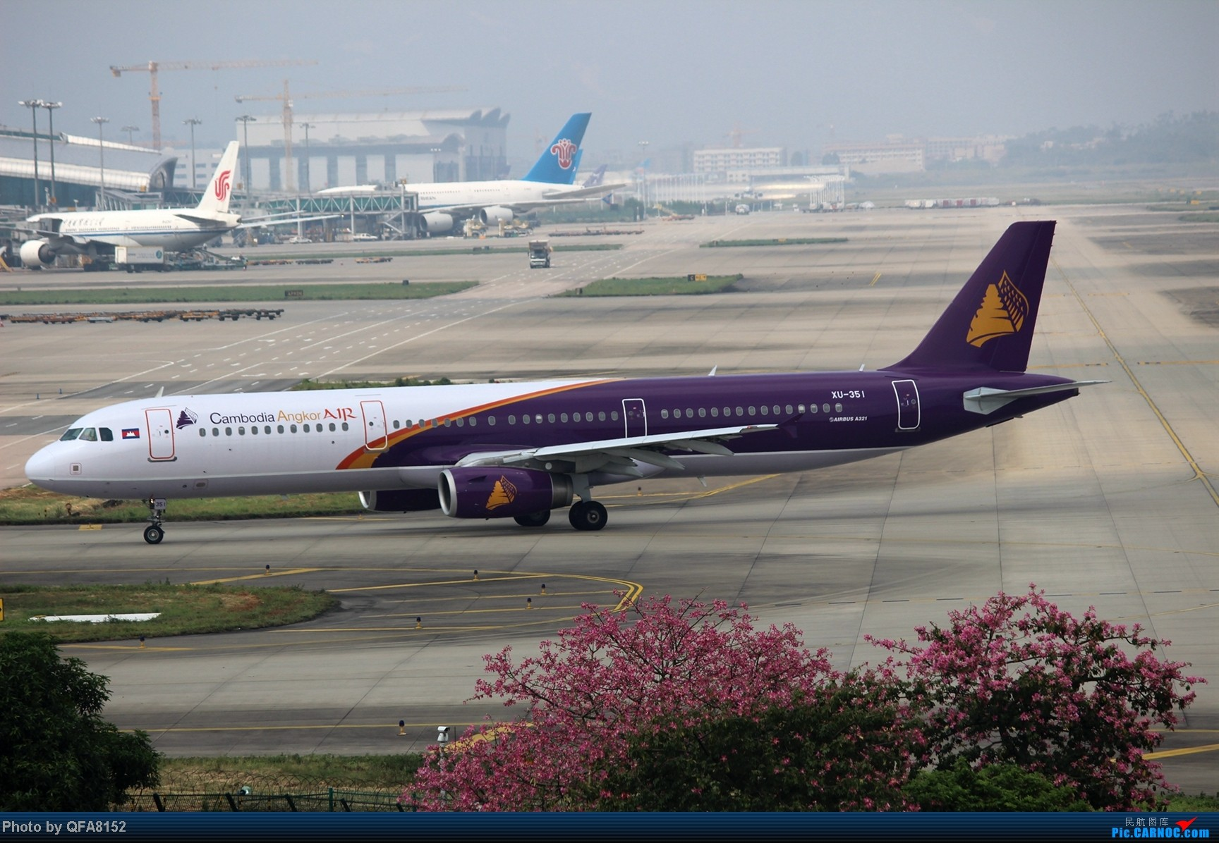 Re:[原创]2014.10.2广州白云消防塔拍机 AIRBUS A321-200 XU-351 中国广州白云机场