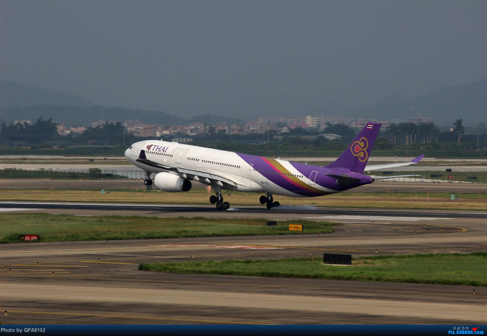 Re:[原创]2014.10.2广州白云消防塔拍机 AIRBUS A330-200 HS-TEU 中国广州白云机场