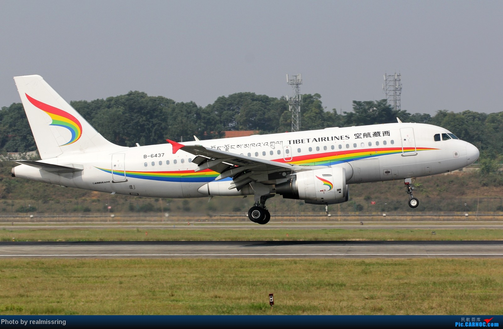 Re:[原创]CARNOC成都空港缘分-国庆6号拍机之02R(小树林) AIRBUS A319-100 B-6437 中国成都双流机场