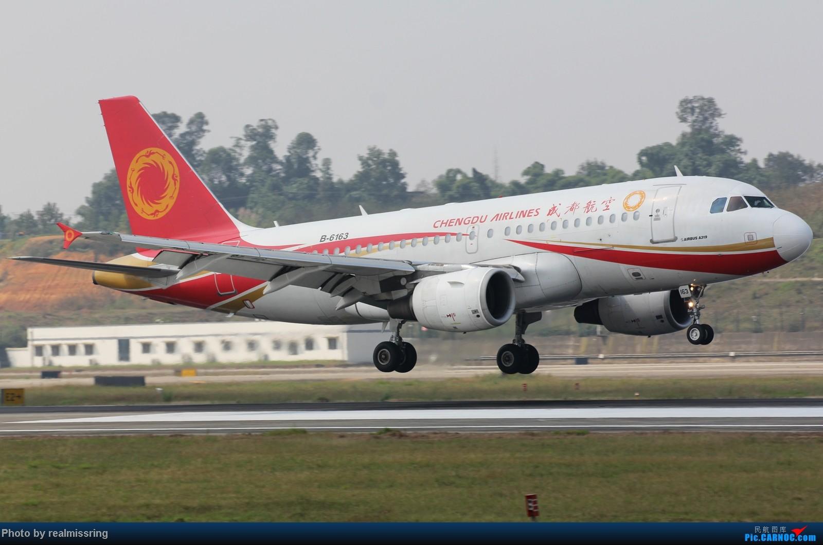 Re:[原创]CARNOC成都空港缘分-国庆6号拍机之02R(小树林) AIRBUS A319-100 B-6163 中国成都双流机场