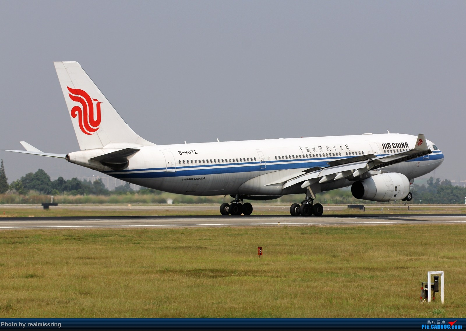 Re:[原创]CARNOC成都空港缘分-国庆6号拍机之02R(小树林) AIRBUS A330-200 B-6072 中国成都双流机场