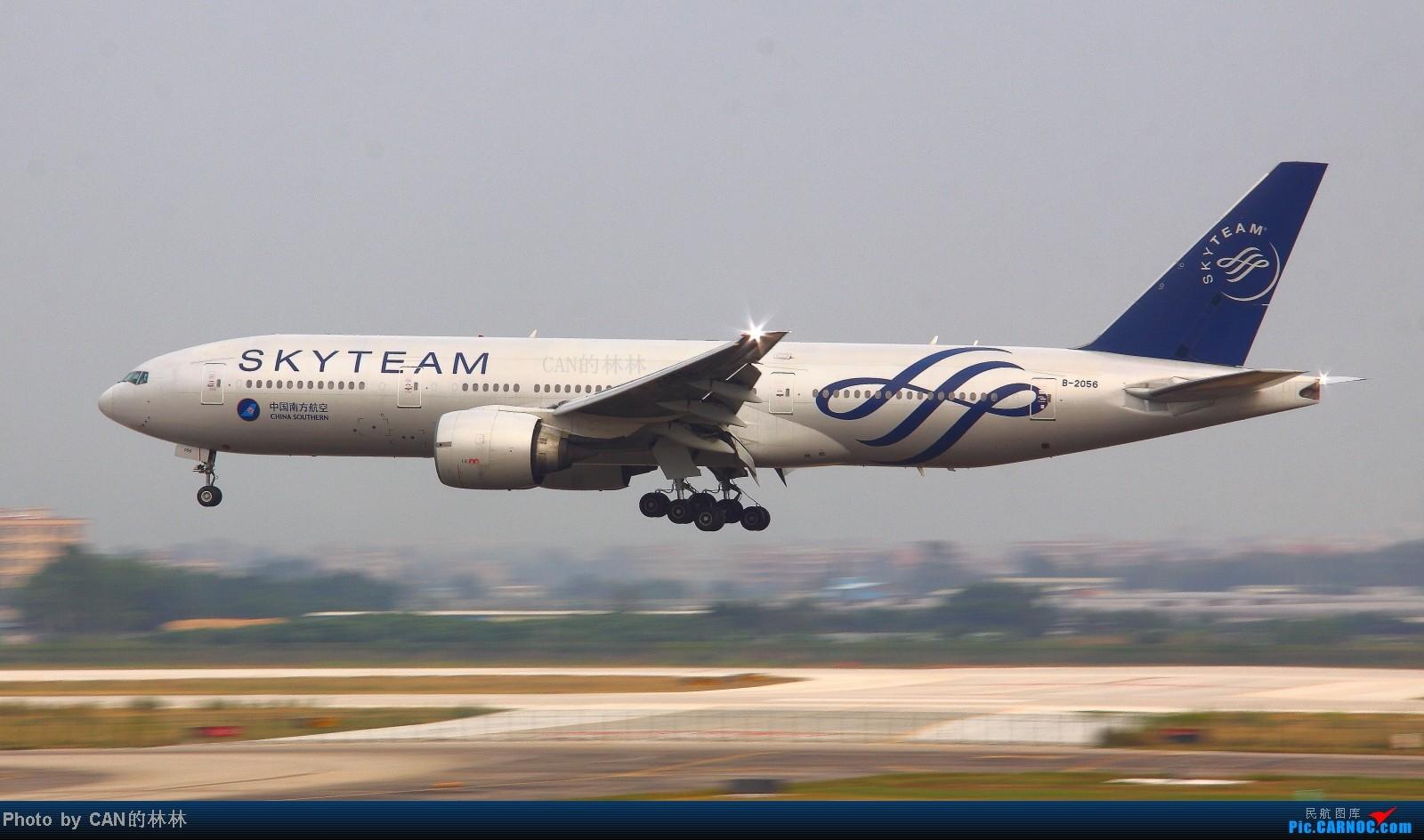 [原创]【一图党】烧了一下午的快门,看到这张时简直泪流满面 BOEING 777-200 B-2056 中国广州白云机场