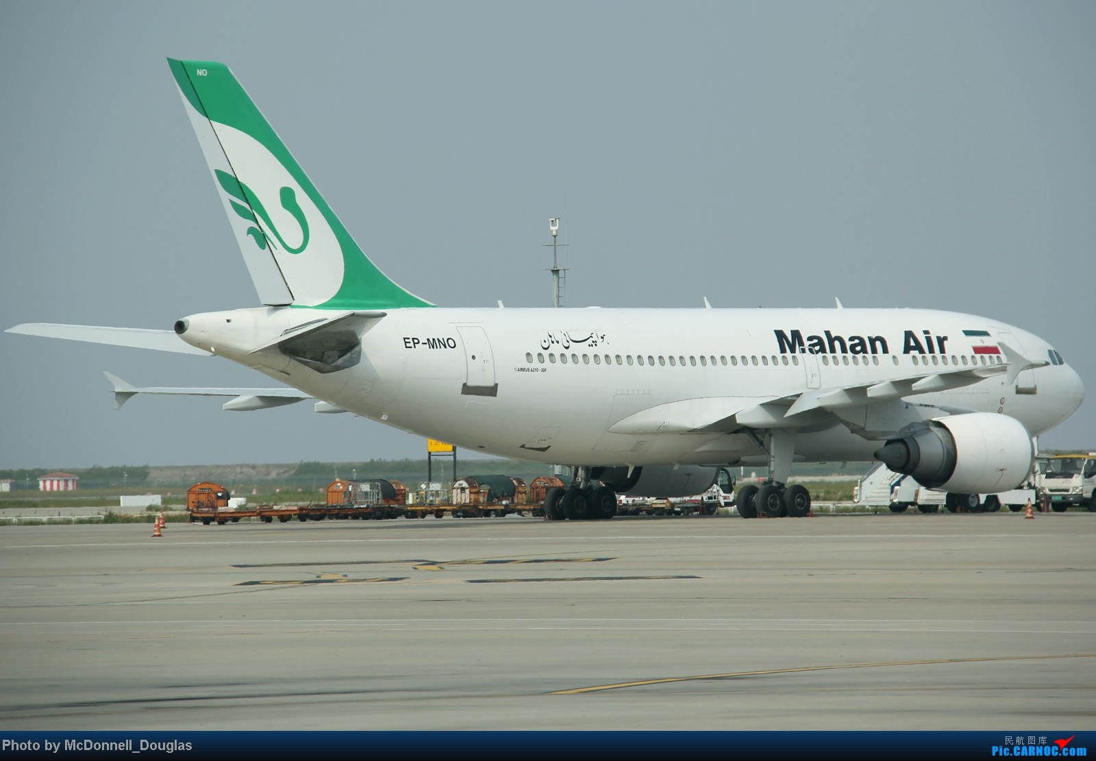 Re:【上海飞友会】不一样的角度带你看ZSPD内场 AIRBUS A310-304 EP-MNO 中国上海浦东机场