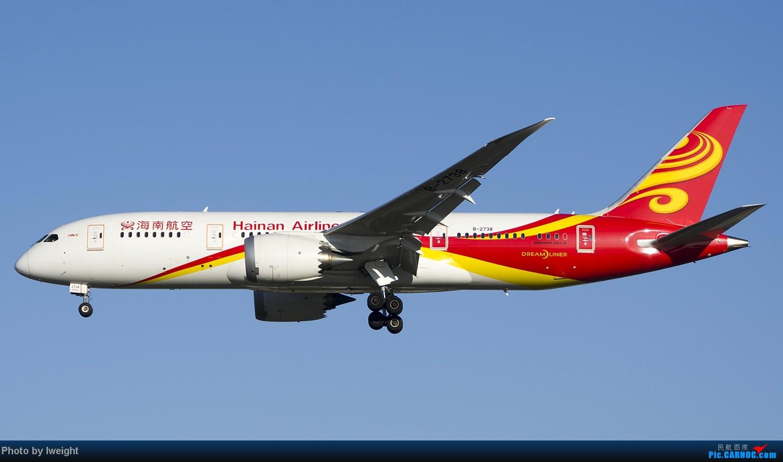Re:[原创]终于盼来了晴天,PEK拍起【10月26日】 BOEING 787-8 B-2738 中国北京首都机场