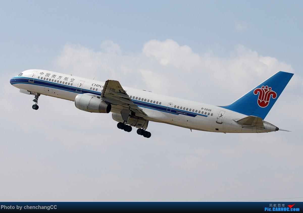 [原创]【chenchangCC】我修图少,你们不要骗我,不会修图啦,求指导。感谢资源网各位还惦记着我,特此鸣谢!下月见,发帖标示存在,标题一定要长! BOEING 757-200 B-2838 中国昆明巫家坝机场