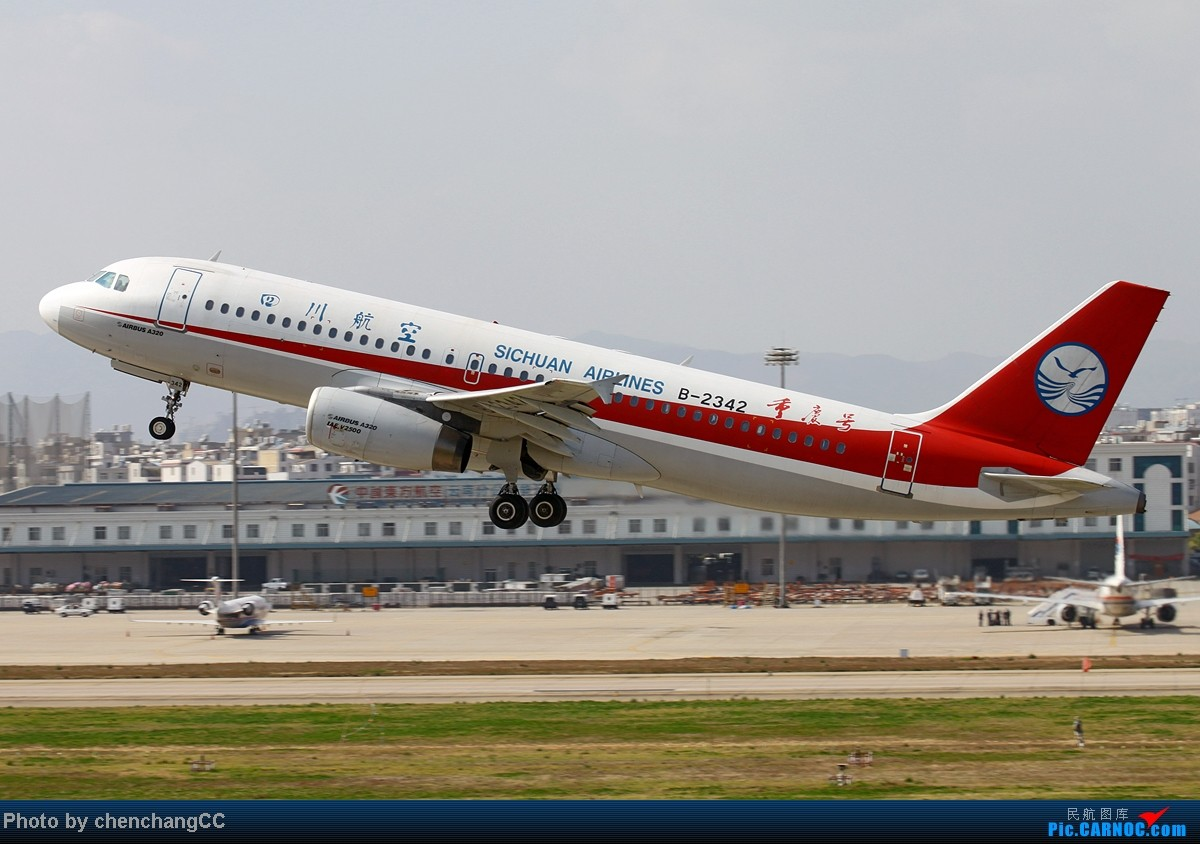 Re:[原创]【chenchangCC】我修图少,你们不要骗我,不会修图啦,求指导。感谢资源网各位还惦记着我,特此鸣谢!下月见,发帖标示存在,标题一定要长! AIRBUS A320-200 B-2342 中国昆明巫家坝机场