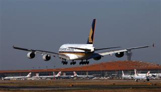 北京好天气的新加坡航空A380客机
