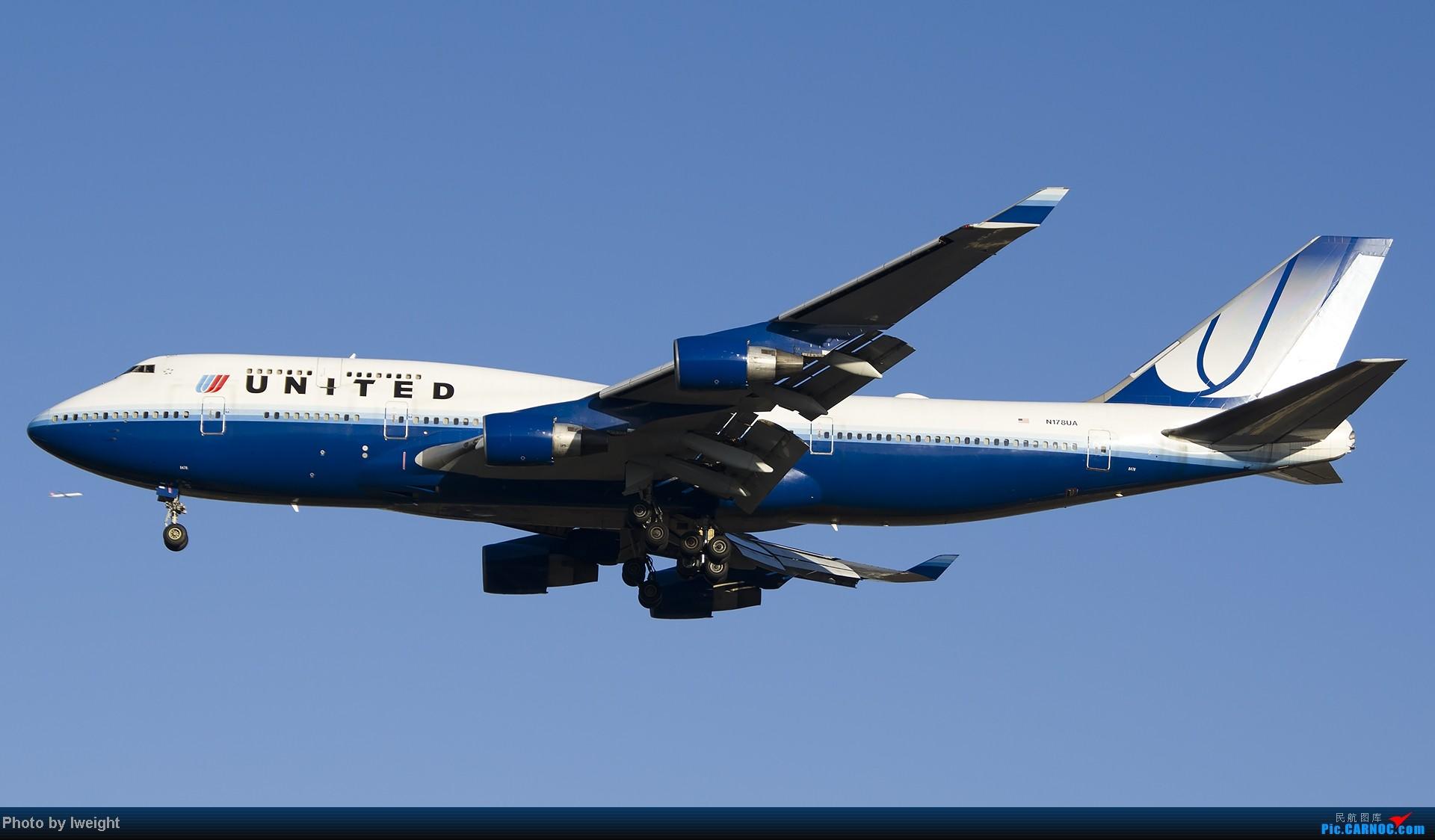 Re:[原创]抓住APEC蓝的尾巴,再拍上一组 BOEING 747-400 N178UA 中国北京首都机场