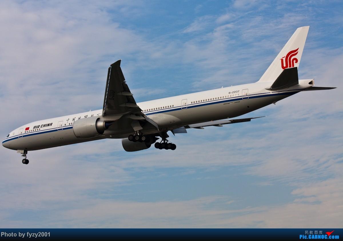 Re:[原创][无锡西站]在SHA拍到的20架国航77W BOEING 777-300ER B-2037 中国上海虹桥机场