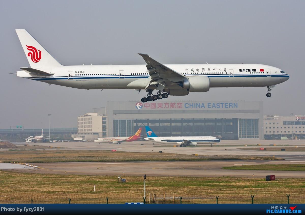 Re:[原创][无锡西站]在SHA拍到的20架国航77W BOEING 777-300ER B-2039 中国上海虹桥机场