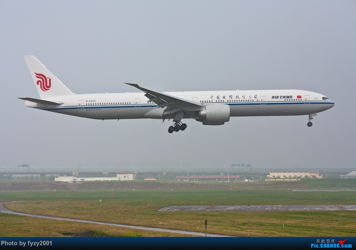 Re:[原创][无锡西站]在SHA拍到的20架国航77W BOEING 777-300ER B-2045 中国上海虹桥机场