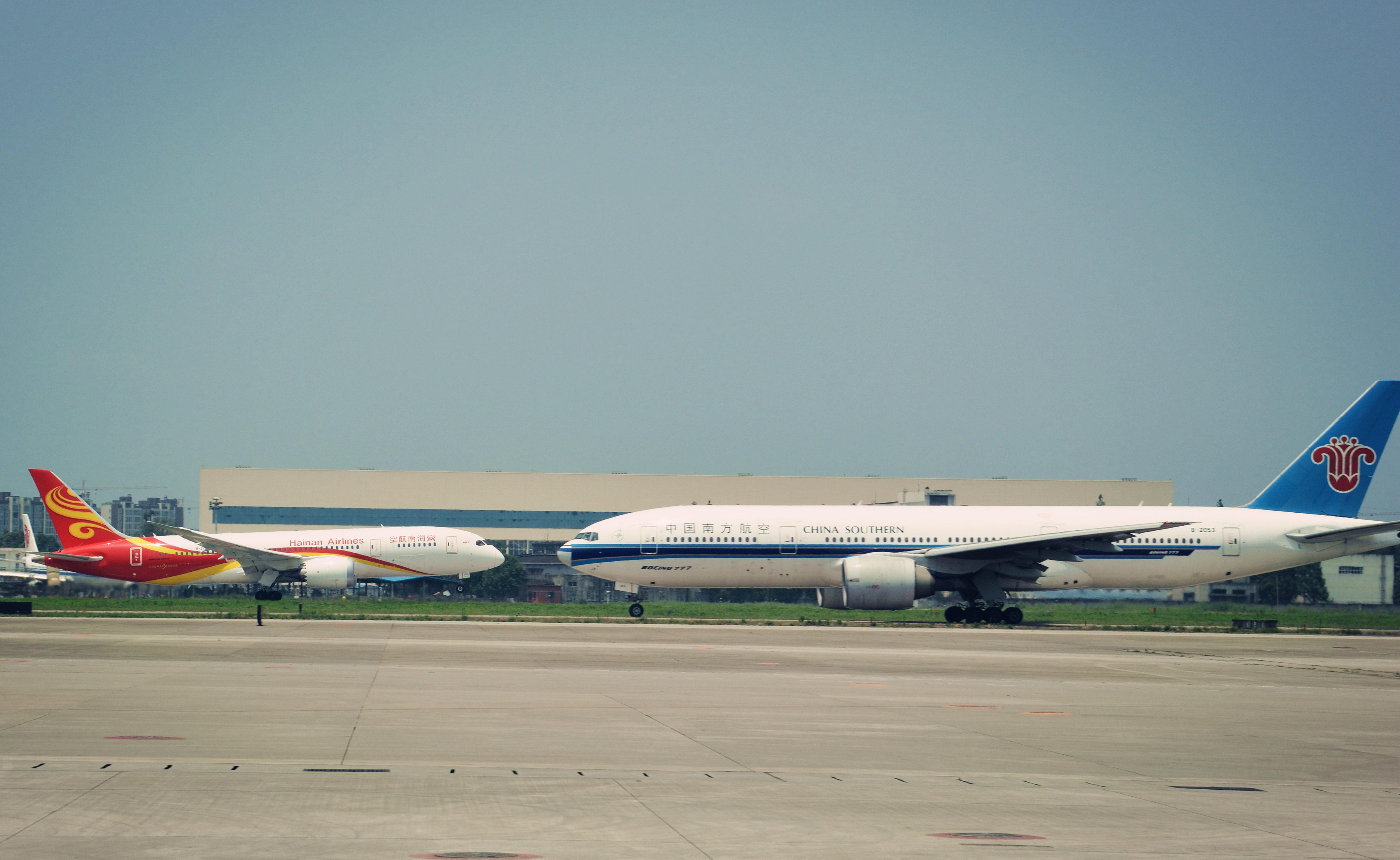 当777遇上787,三大航的交融 BOEING 777-200 B-2053 成都