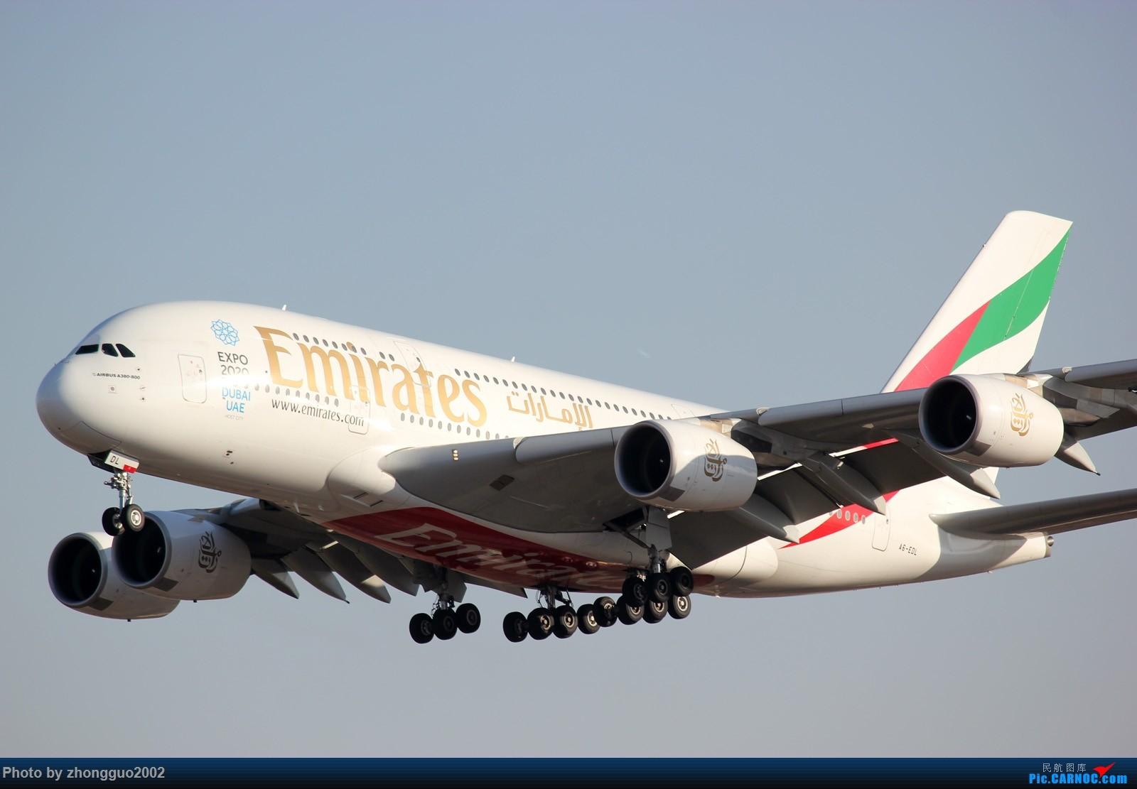 """Re:[原创]北京强劲的偏北风,把庞大的A380都""""吹""""的复飞了,我还是第一次见到,好天气再发点图吧! AIRBUS A380-800 A6-EDL PEK"""