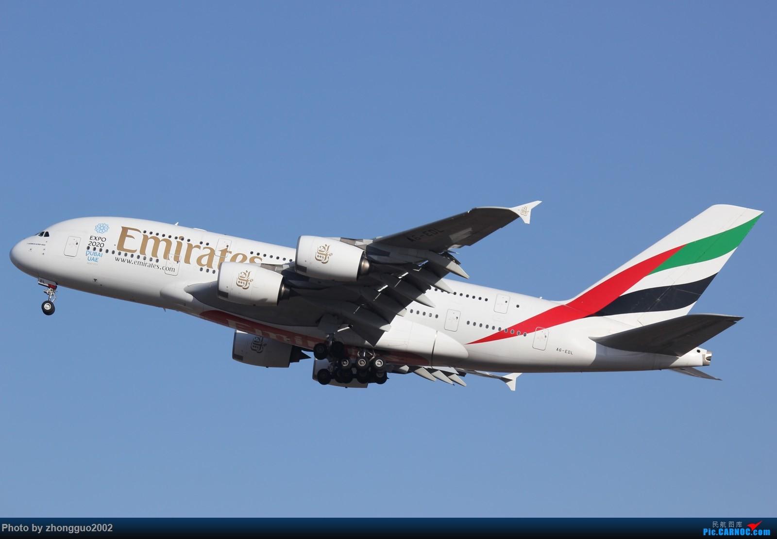 """Re:[原创]北京强劲的偏北风,把庞大的A380都""""吹""""的复飞了,我还是第一次见到,好天气再发点图吧! AIRBUS A380-800 A6-EDL 中国北京首都国际机场"""