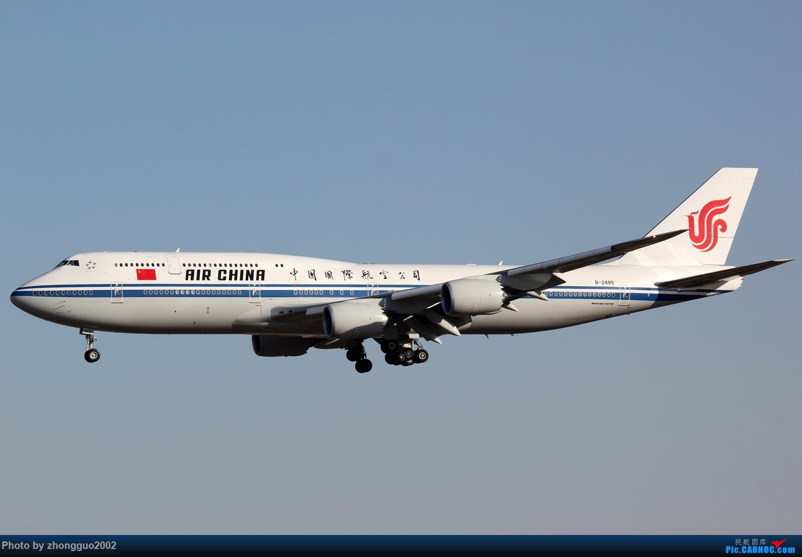 """Re:[原创]北京强劲的偏北风,把庞大的A380都""""吹""""的复飞了,我还是第一次见到,好天气再发点图吧! BOEING 747-8I B-2485 中国北京首都国际机场"""