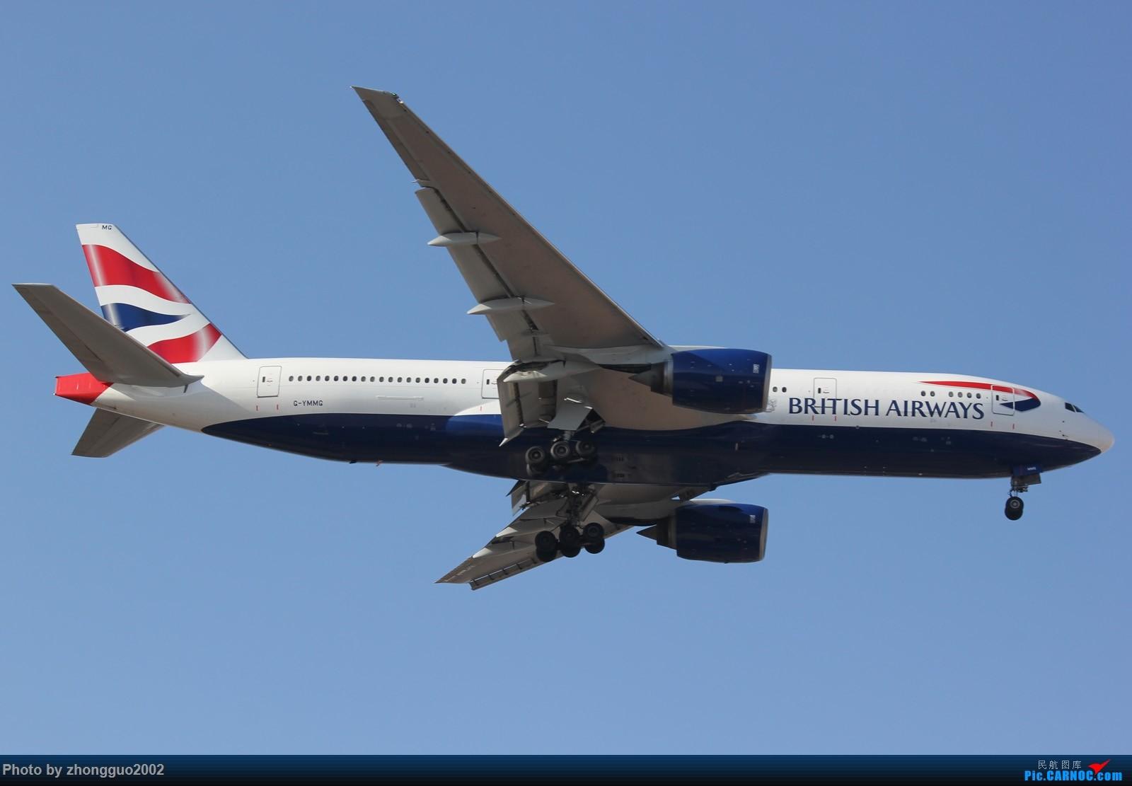 """Re:[原创]北京强劲的偏北风,把庞大的A380都""""吹""""的复飞了,我还是第一次见到,好天气再发点图吧! BOEING 777 G-YMMG PEK"""