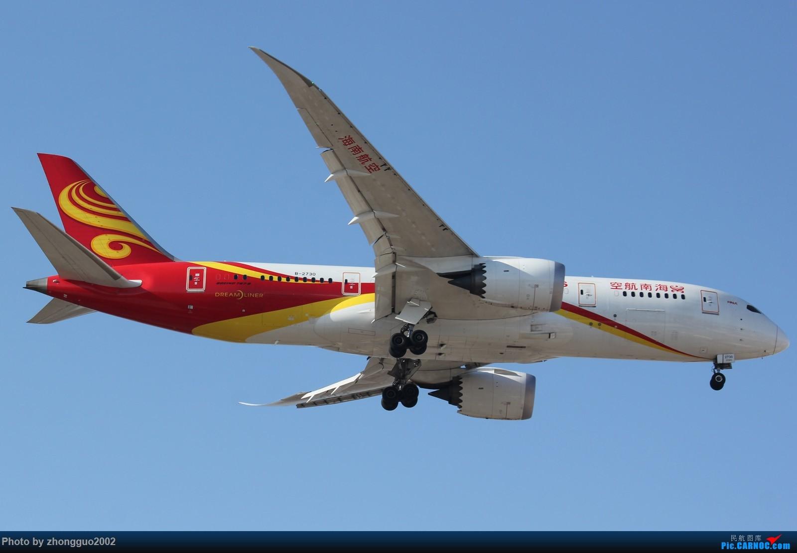 """Re:[原创]北京强劲的偏北风,把庞大的A380都""""吹""""的复飞了,我还是第一次见到,好天气再发点图吧! BOEING 787-8 B-2730 中国北京首都国际机场"""
