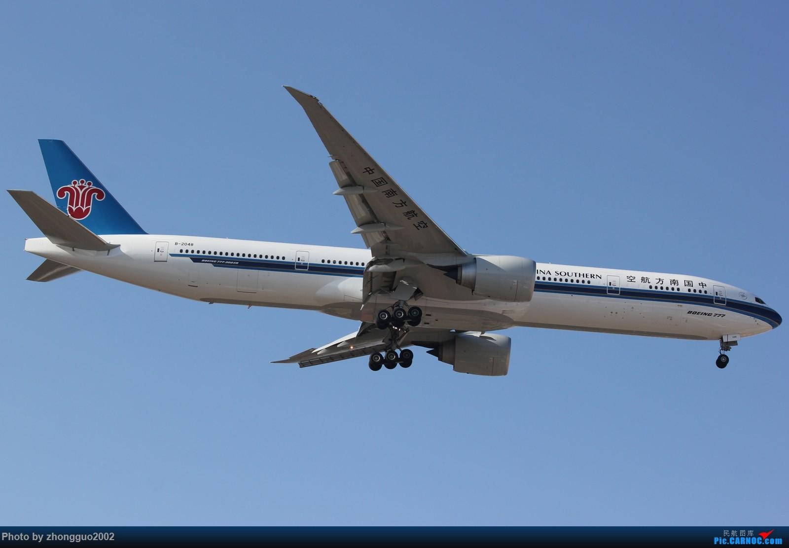 """Re:[原创]北京强劲的偏北风,把庞大的A380都""""吹""""的复飞了,我还是第一次见到,好天气再发点图吧! BOEING 777-300ER B-2048 中国北京首都国际机场"""
