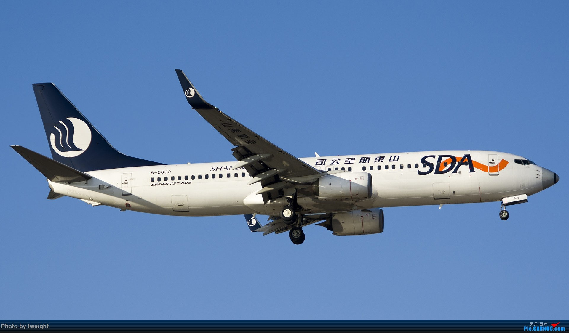 [原创]2014-12-06 PEK天气由好变坏的直接体验 BOEING 737-800 B-5652 中国北京首都国际机场