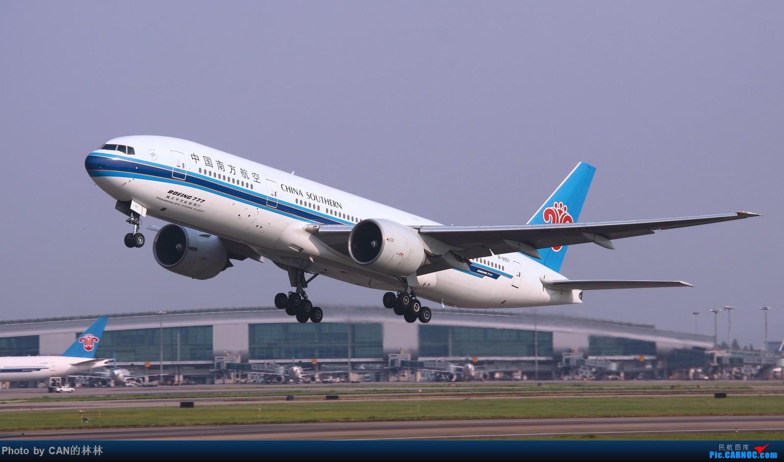[原创]发一组南航77B存货,都退了,当怀念呗,放电脑存着也发霉(第二贴) BOEING 777-200 B-2057 中国广州白云国际机场