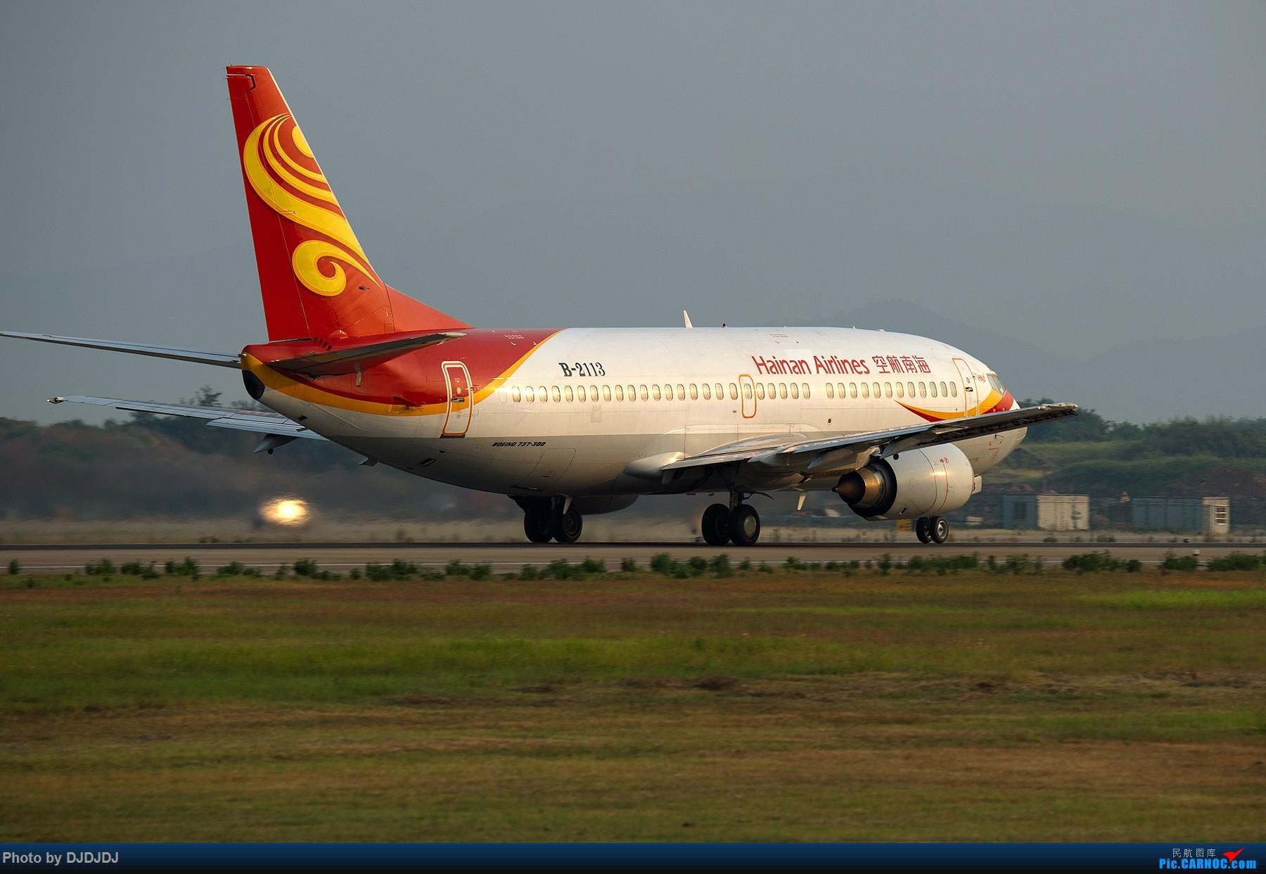 [原创]【BLDDQ】刚开始拍飞机时,第一次去外地拍就是南京 BOEING 737-300 B-2113 中国南京禄口国际机场