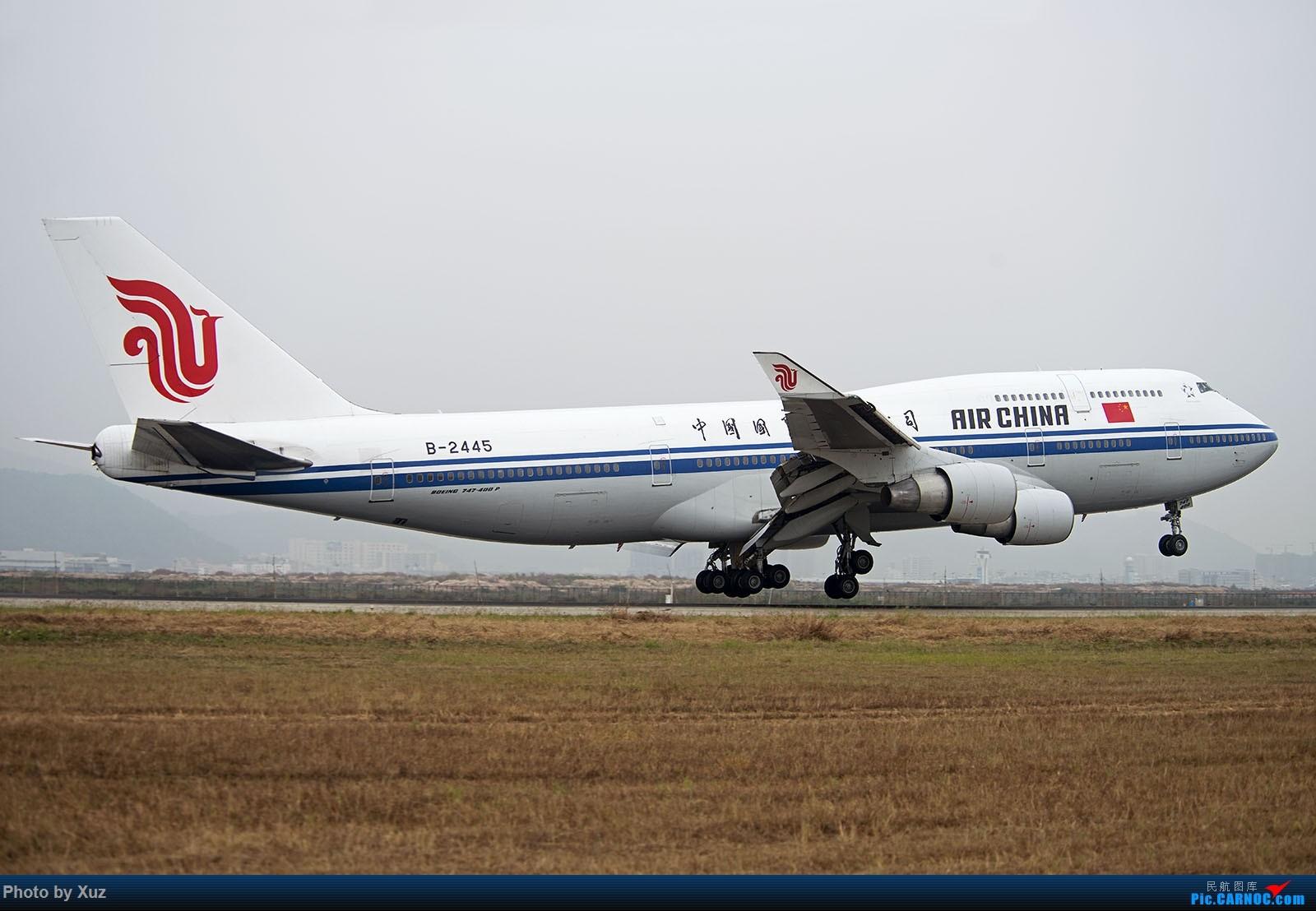 Re:[原创]跑道头看大飞机落地 BOEING 747-400 B-2445 中国深圳宝安国际机场