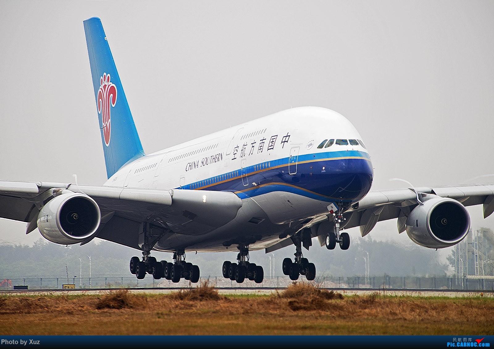 Re:[原创]跑道头看大飞机落地 AIRBUS A380 B-6138 中国深圳宝安国际机场