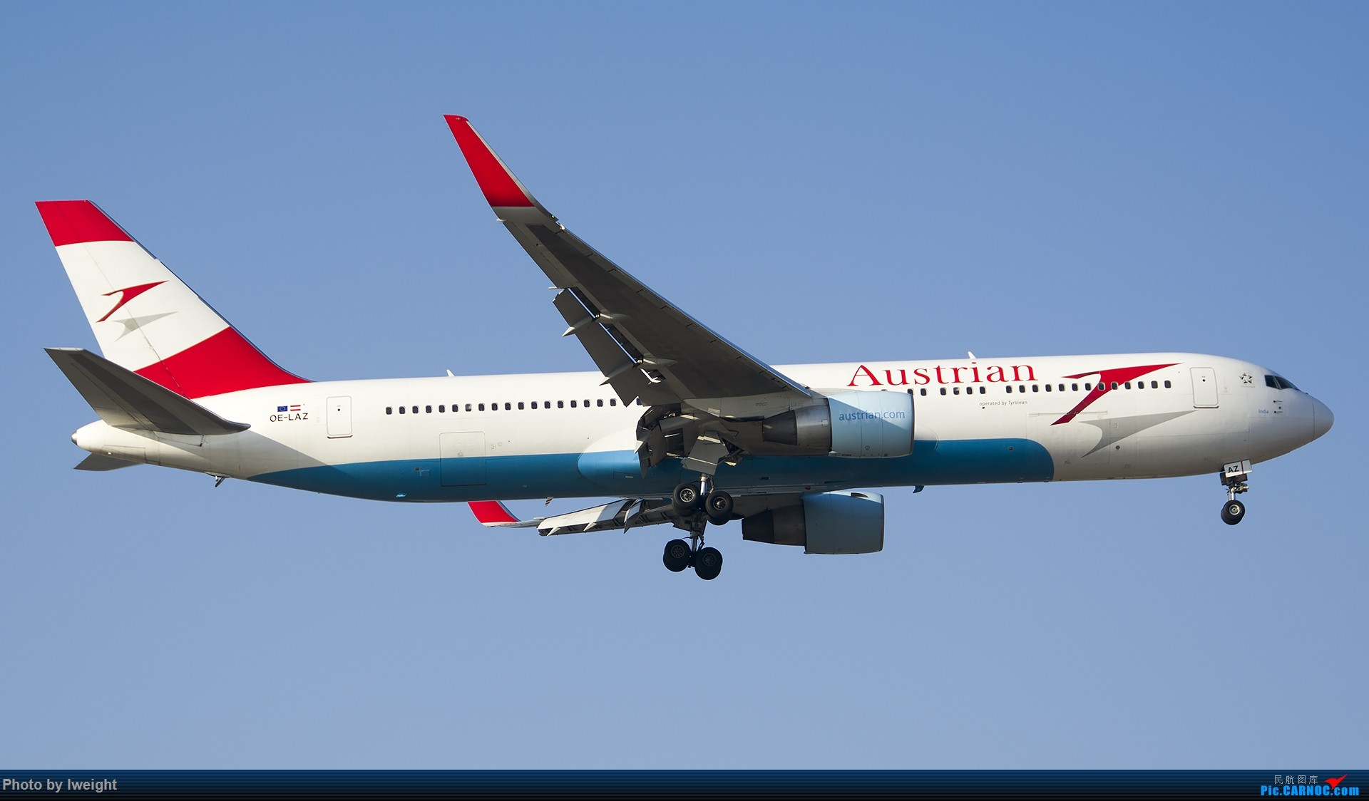 Re:[原创]庆祝升级777,发上今天在首都机场拍的所有飞机【2014-12-14】 BOEING 767-300ER OE-LAZ 中国北京首都国际机场