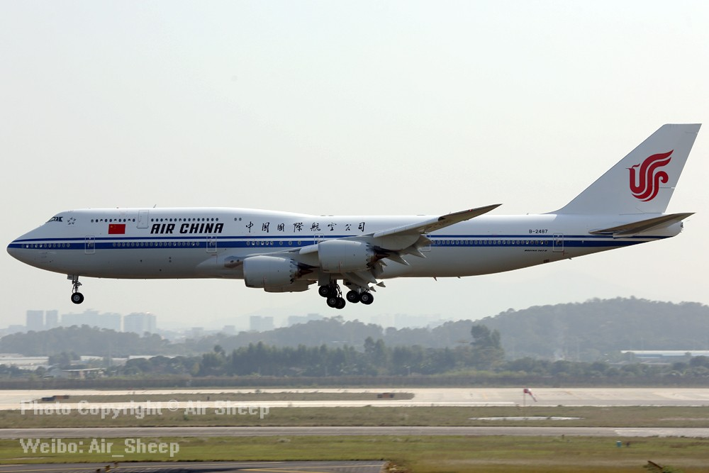 [原创]广州一天两班国航空中女皇 BOEING 747-8I B-2487 中国广州白云国际机场