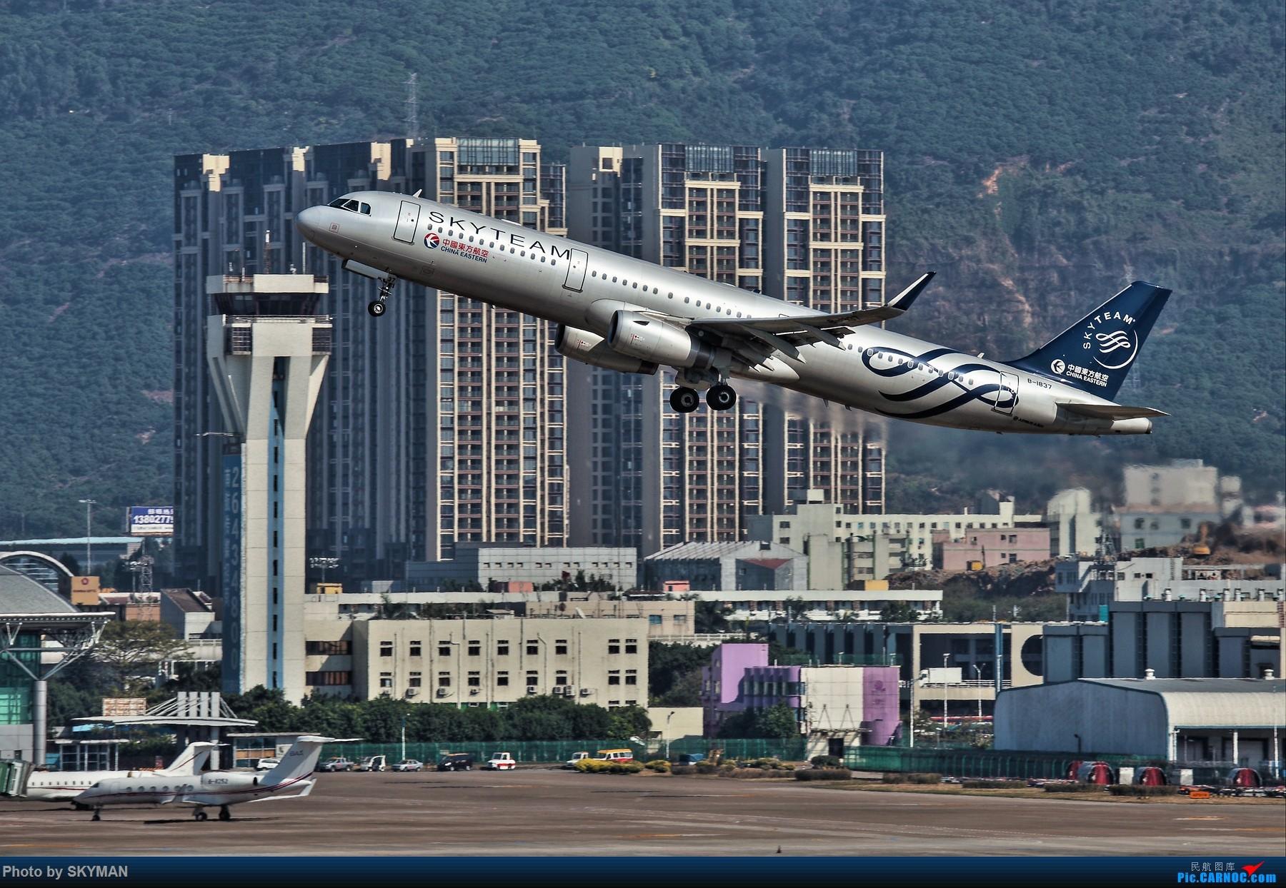 [原创]BLDDQ--某位爷说了 别老是拿几百块的破相机来糊弄 确实机器老了图不够瓷实 得!换感动牌! AIRBUS A321-200 B-1837 中国深圳宝安国际机场