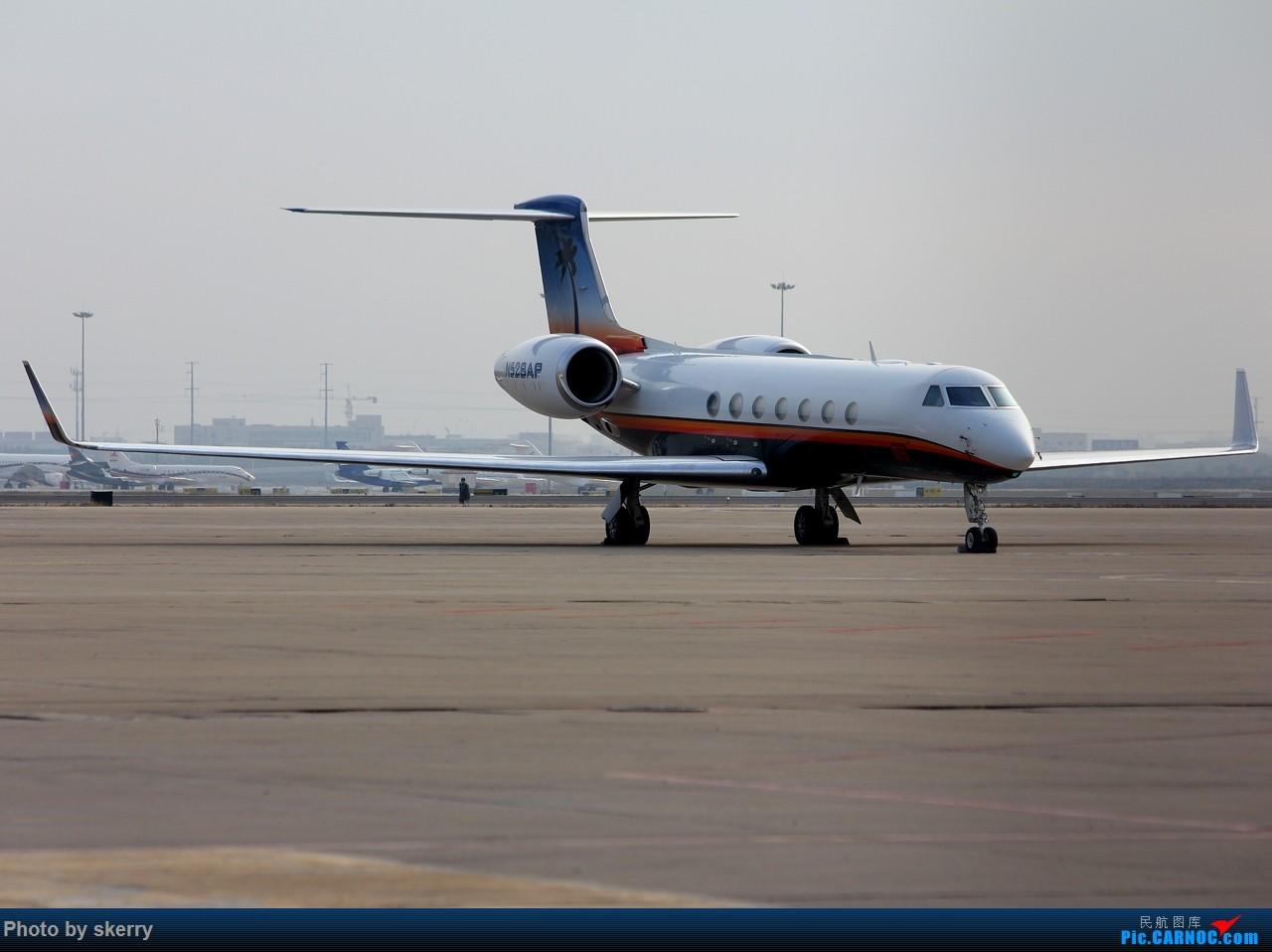 Re:[原创]***【TSN飞友会】近期来天津的公务机之湾流*** GULFSTREAM V N528AP 中国天津滨海国际机场
