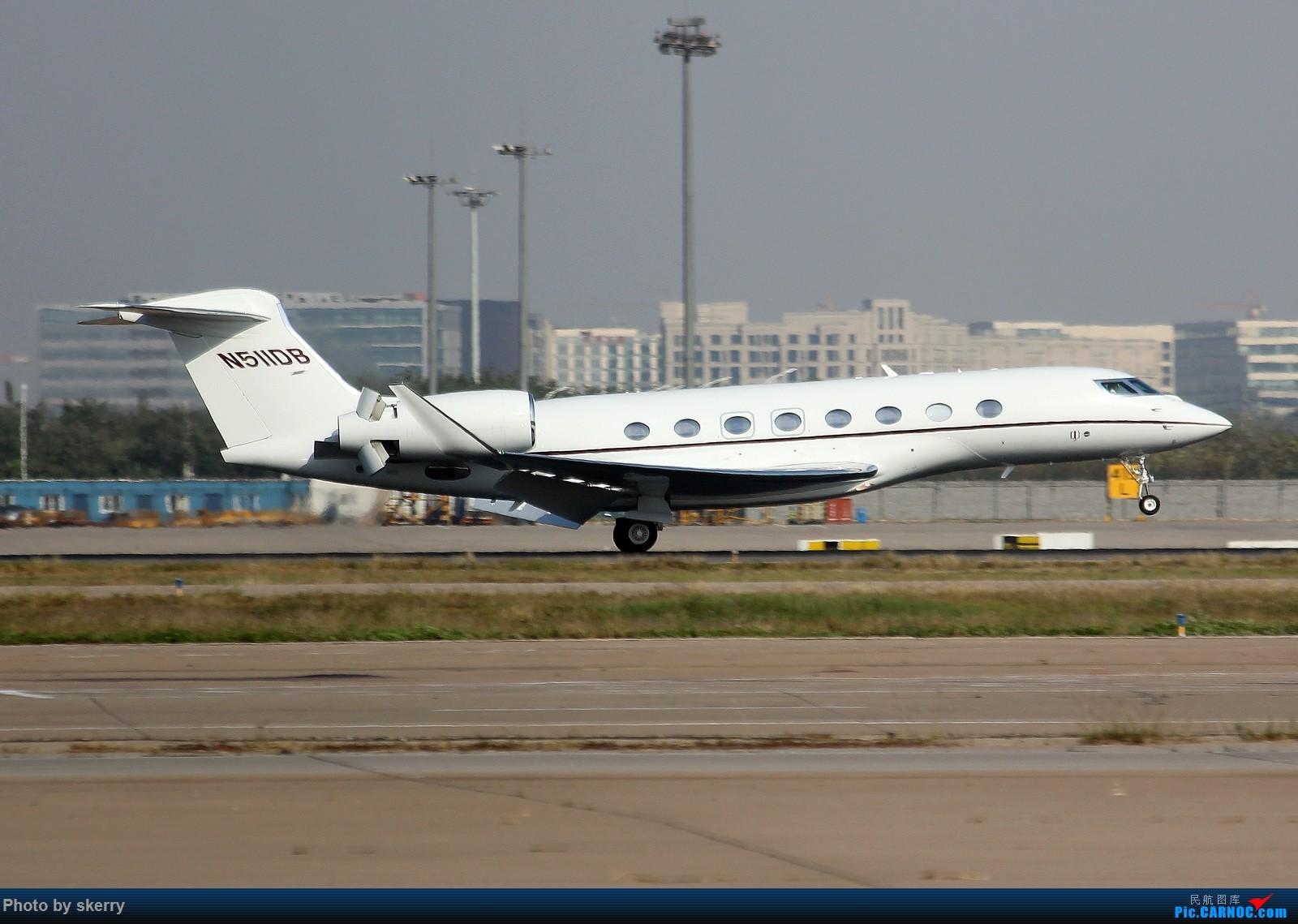 Re:[原创]***【TSN飞友会】近期来天津的公务机之湾流*** GULFSTREAM G650 N511DB 天津滨海国际机场