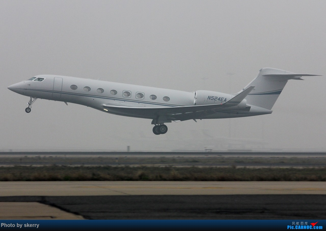 Re:[原创]***【TSN飞友会】近期来天津的公务机之湾流*** GULFSTREAM G650 N524EA 天津滨海国际机场