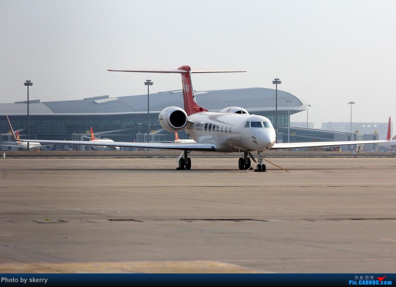 Re:[原创]***【TSN飞友会】近期来天津的公务机之湾流*** GULFSTREAM G550 B-8306 中国天津滨海国际机场