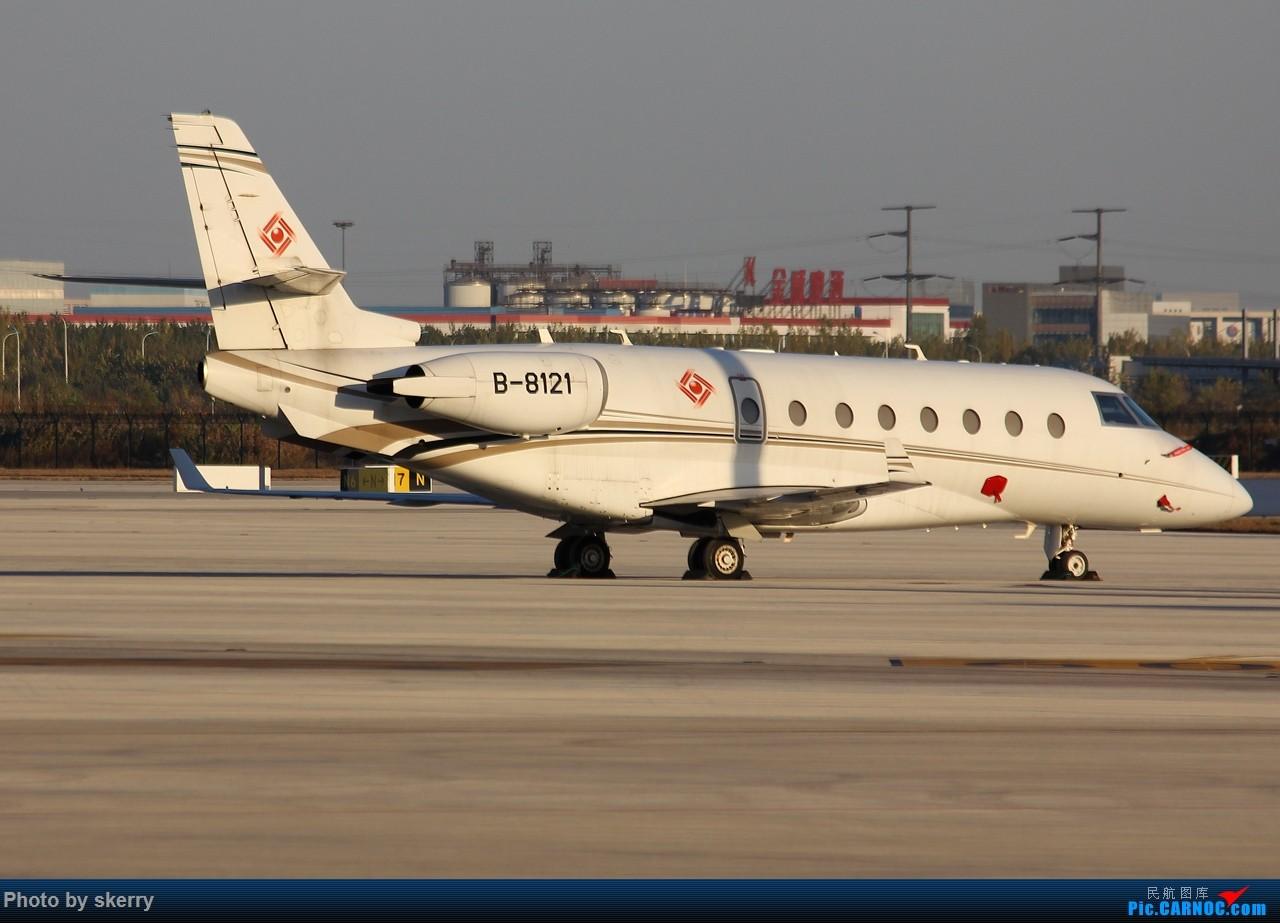 Re:[原创]***【TSN飞友会】近期来天津的公务机之湾流*** GULFSTREAM G200 B-8121 中国天津滨海国际机场
