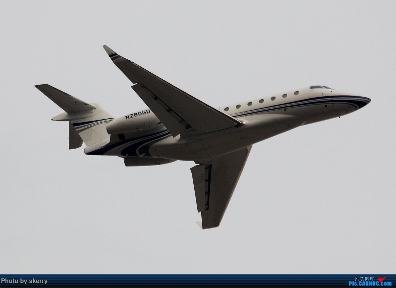 Re:[原创]***【TSN飞友会】近期来天津的公务机之湾流*** GULFSTREAM G280 N280GD 中国天津滨海国际机场
