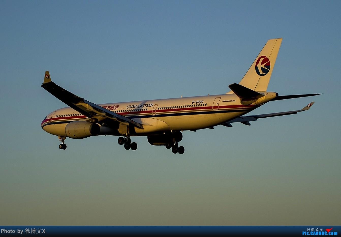 Re:[原创]两图 夕阳下的东方航空.... AIRBUS A330-300 B-6100 中国北京首都国际机场