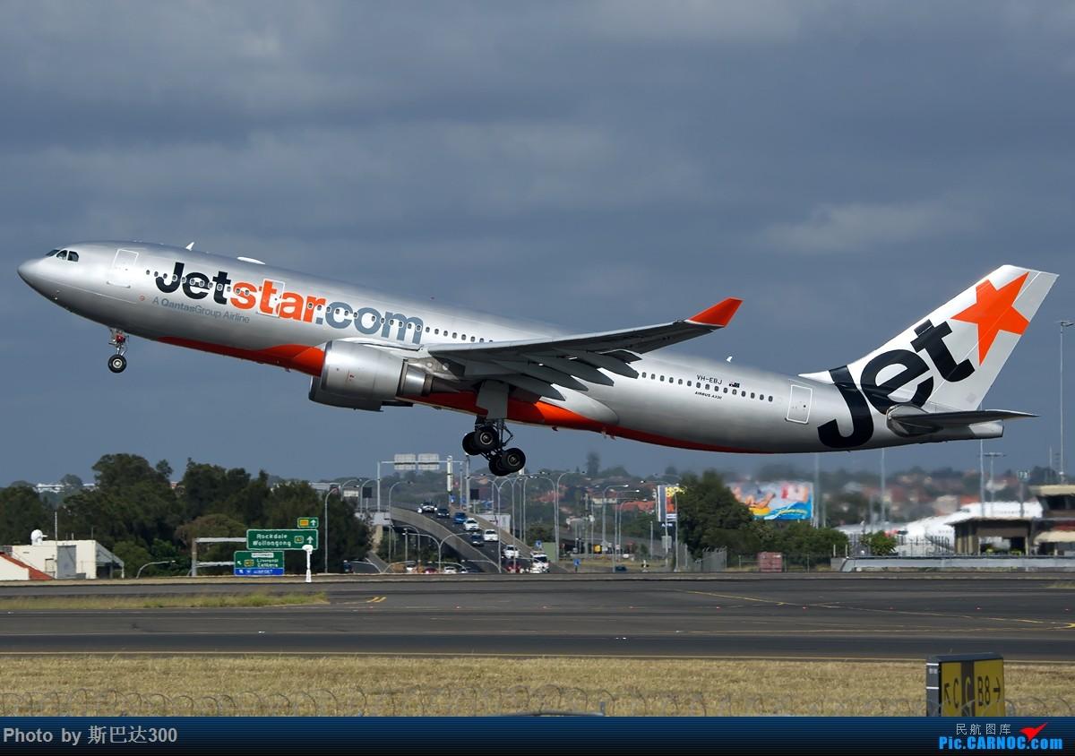 [原创]一图 第一次去塔台底下拍到捷星330 AIRBUS A330-200 VH-EBJ 澳大利亚悉尼金斯福德·史密斯机场