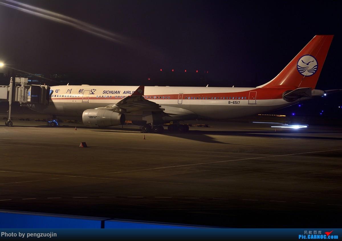 [原创]【成都空港缘分飞友会】悍马散步夜袭川航 AIRBUS A330-200 B-6517