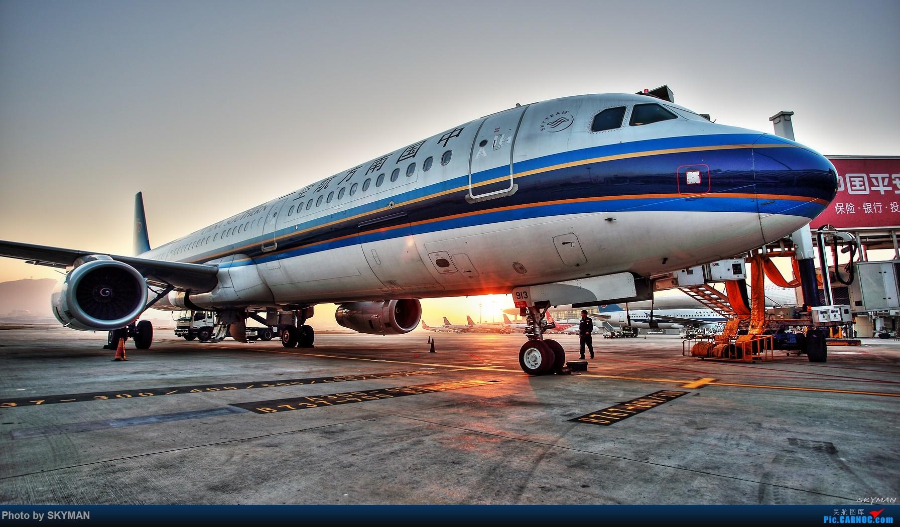 [原创]【BLDDQ--深圳打机队】  早安! 深圳! AIRBUS A321-200 B-6913 中国深圳宝安国际机场