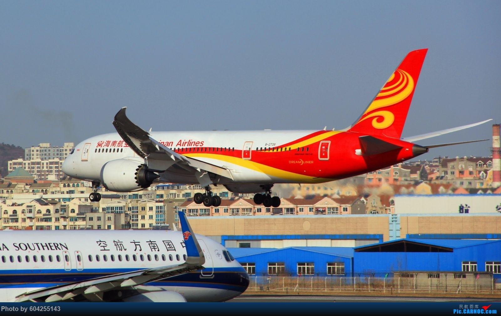 Re:[原创][DLC]海航787光临大连,本屌丝也是第一次见787. BOEING 787-8 B-2739 中国大连周水子国际机场