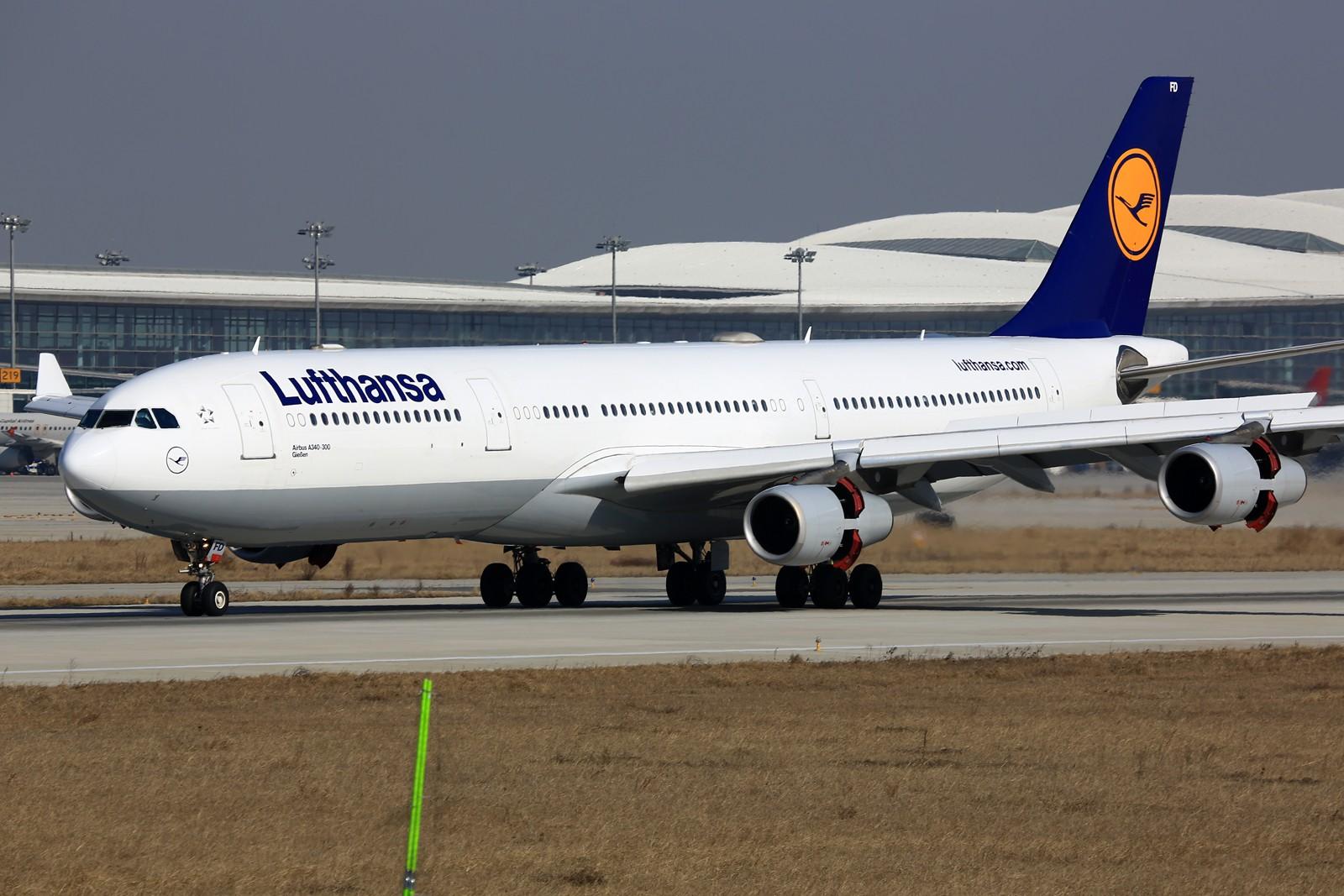 Re:【NKG】**********2015新年好!南跑25头新拍机位:华航744吉米彩绘,汉莎343,东海738********** AIRBUS A340-300 D-AIFD 中国南京禄口国际机场