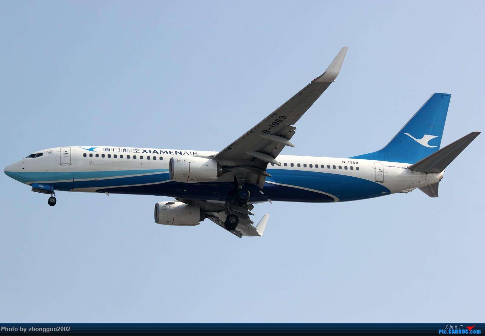 Re:[原创]【BLDDQ--深圳打机队】发小飞机盖楼贴,凡跟帖1字开头大陆民航飞机图的,每图五架小飞机不重复 BOEING 737-800 B-1969 中国上海虹桥国际机场