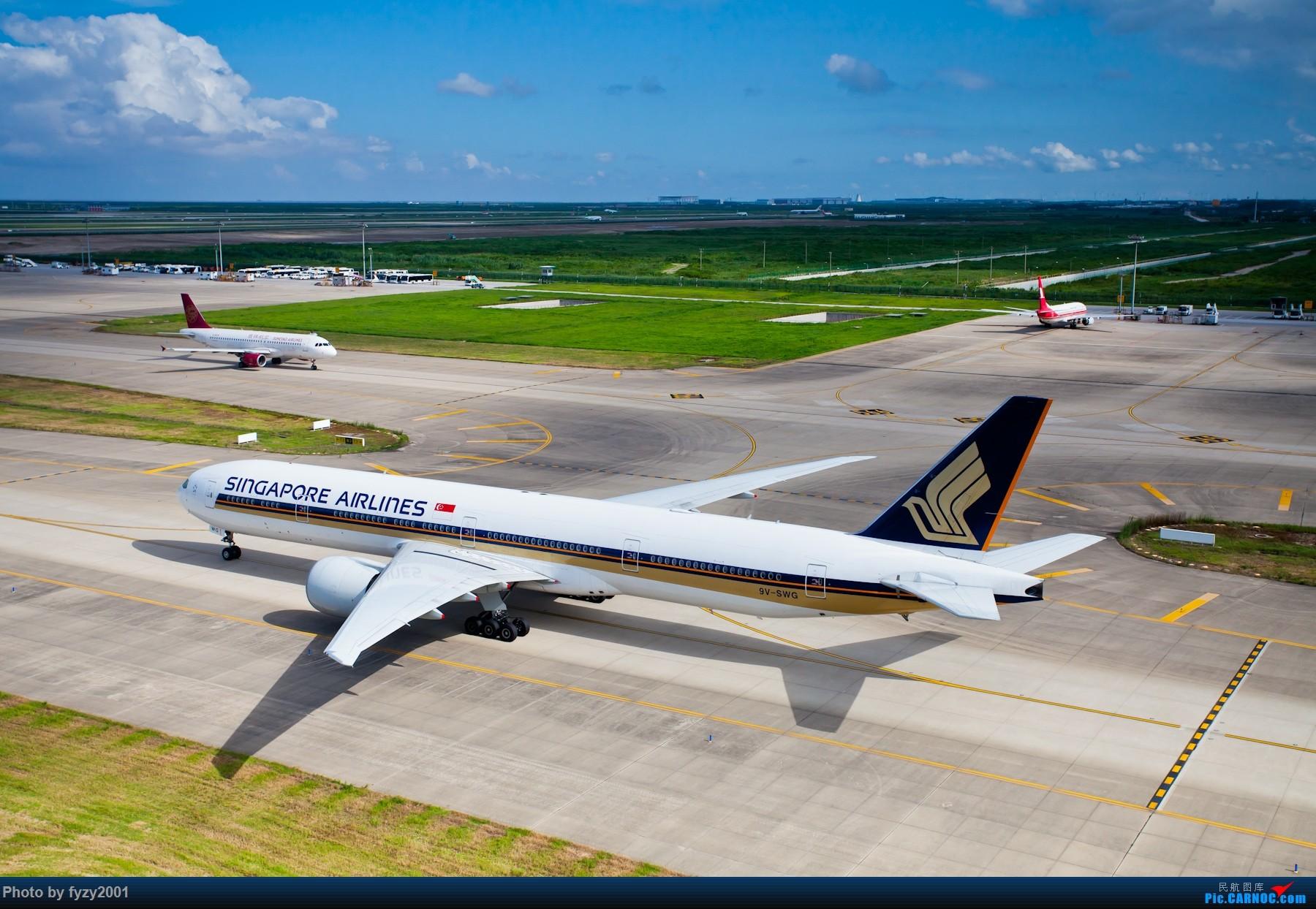 Re:[原创][无锡西站]炎炎夏日里的PVG~~~~(大图) BOEING 777-300ER 9V-SWG 中国上海浦东国际机场