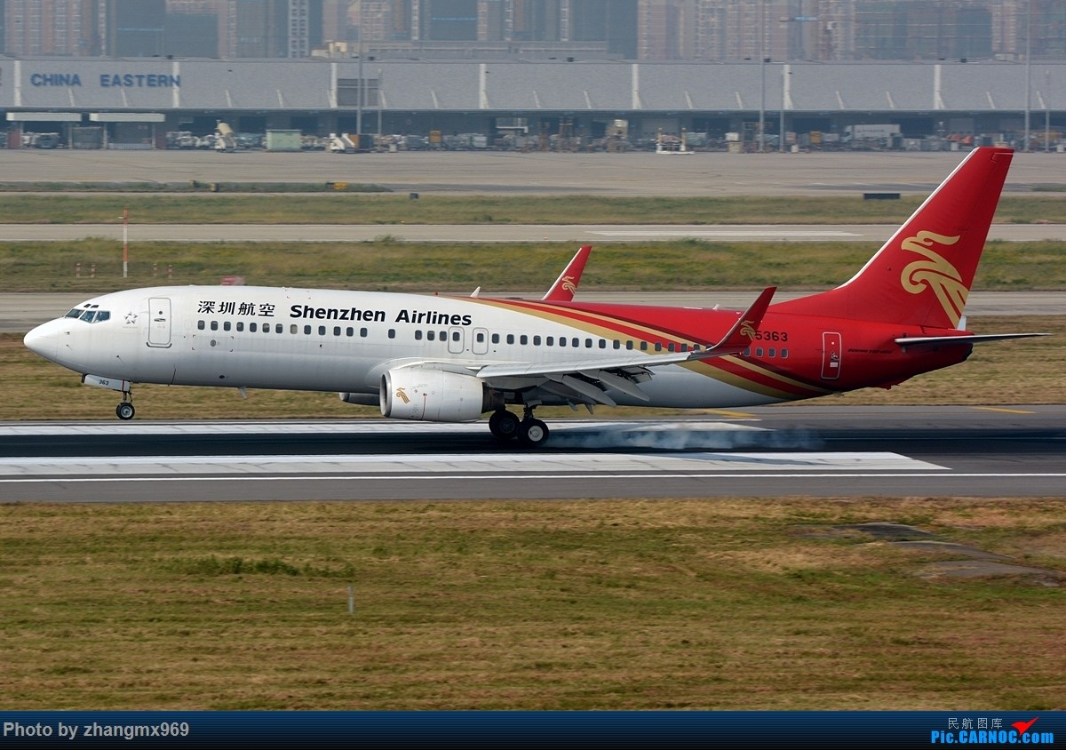 Re:[原创]发一组擦烟,纪念又一个逝去的神位 BOEING 737-800 B-5363 中国上海虹桥国际机场