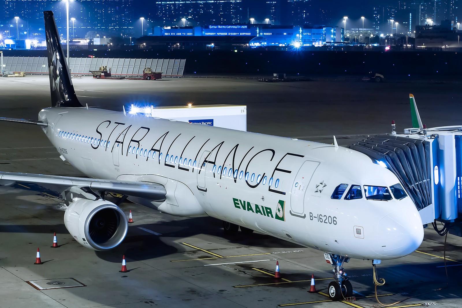 Re:[原创]夜太美 AIRBUS A321-200 B-16206 中国香港赤鱲角国际机场