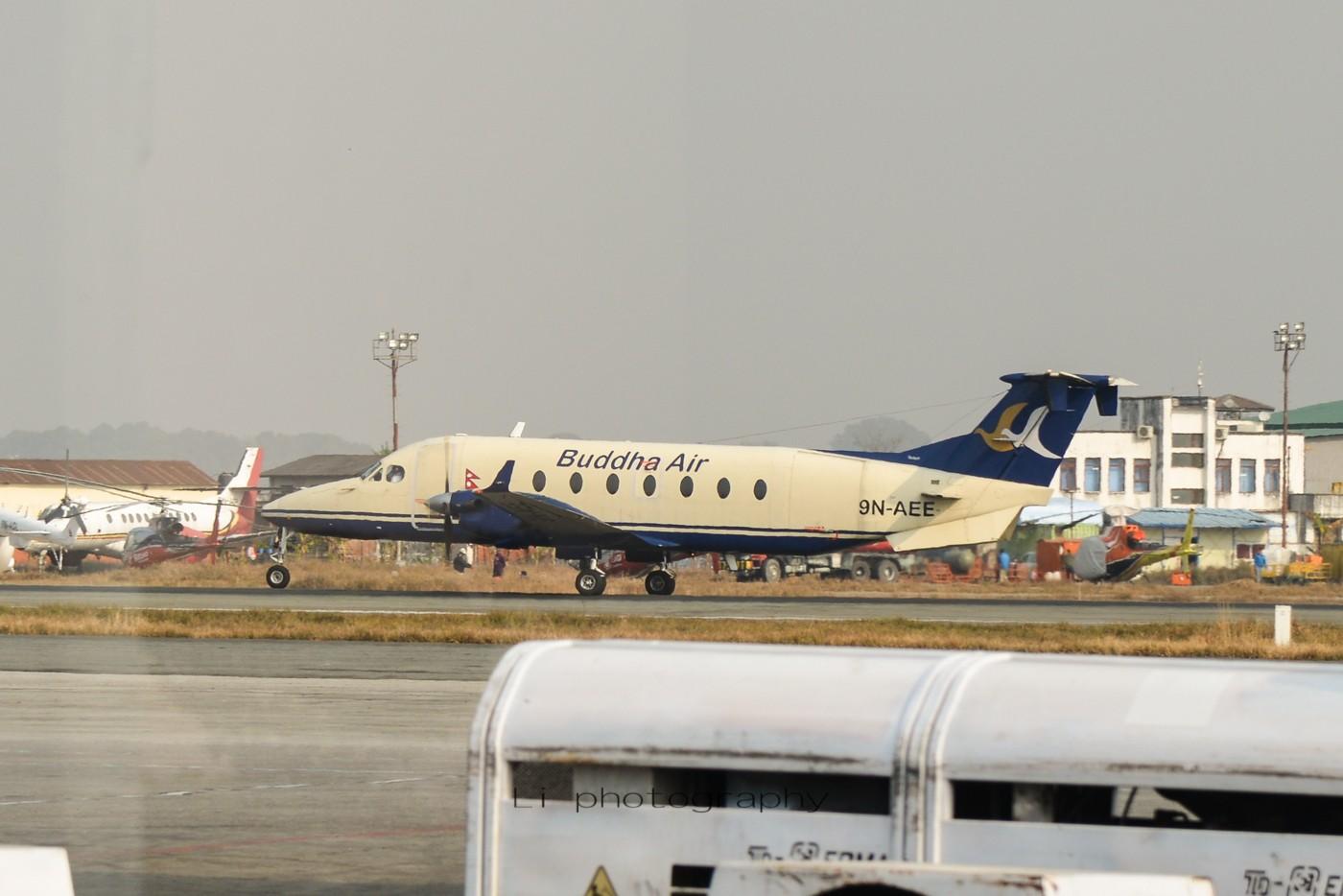 Re:[原创]尼泊尔拍机第一发——加德满都布里特万机场,各种奇货乱入~ BEECHCRAFT 1900 9N-AEE 尼泊尔加德满都机场