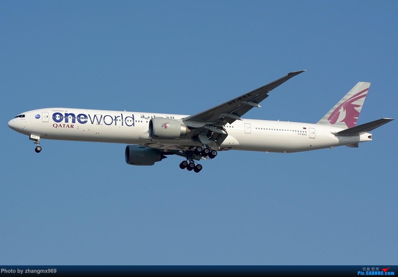 [原创]蓝天下的OW BOEING 777-300ER A7-BAA 中国上海浦东国际机场
